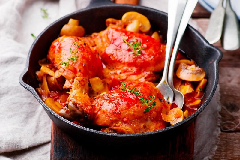 Receta de pollo Marengo