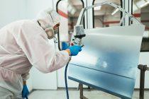 Taller de pintura que funciona con gas natural
