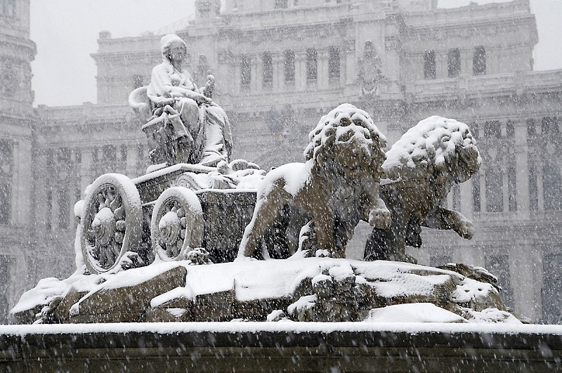Madrid nevado, confort con gas natural