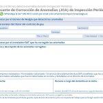 Justificante de Corrección de Anomalías (JCA) de Inspección Periódica