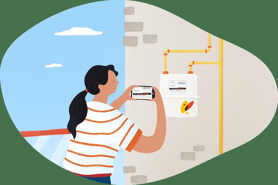 lectura contador gas natural