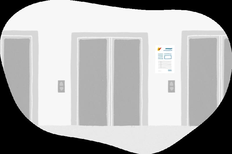 Lectura de contador en ascensores Nedgia gas natural
