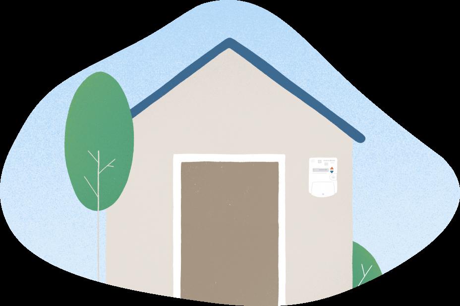 Casa gas natural