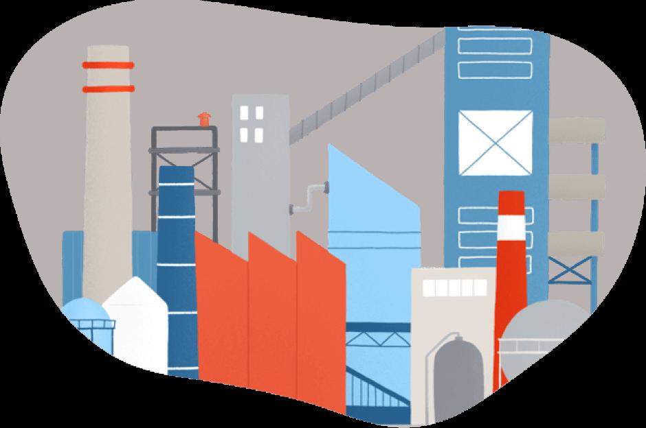 Empresas y negocios con gas natural