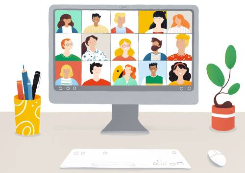 Videoconferencia Nedgia en pantalla ordenador