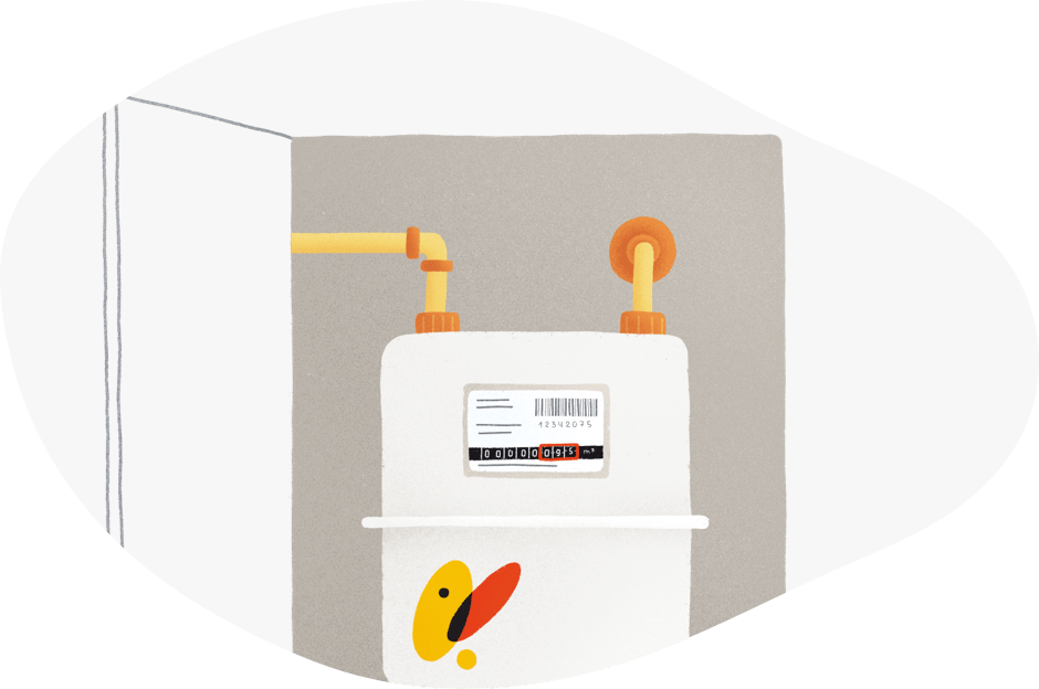 Contador gas natural solicitud suministro