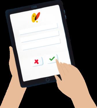 tablet formulario