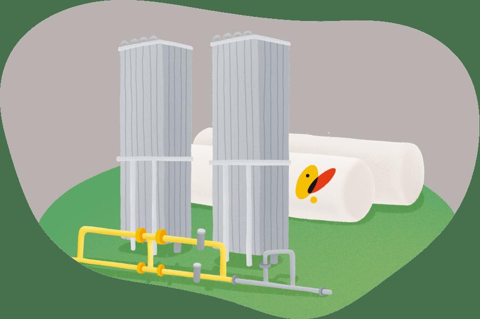 Plantas de gas natural