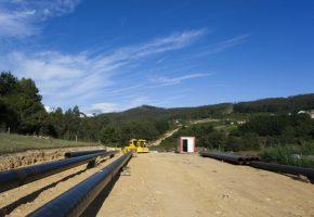 Construccion del gasoductor de A Mariña