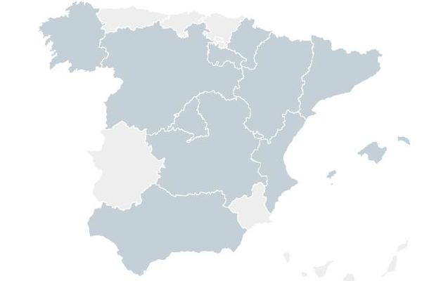 Mapa distribuidoras gas natural en España