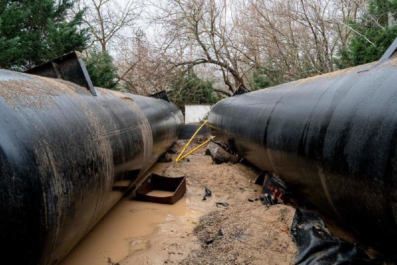 Destrozos tanque GLP Sant Pere Pescador
