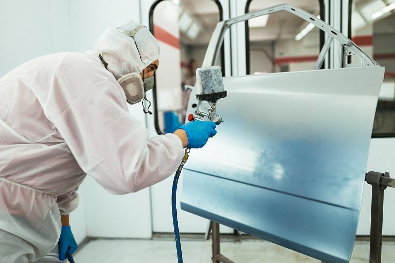 Taller de pintura amb gas natural