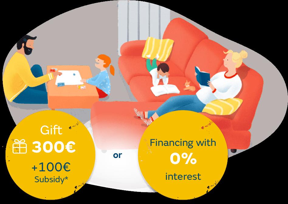 Oferta o financiación a 0% para instalar gas natural para calefacción