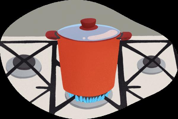 cocina con gas natural