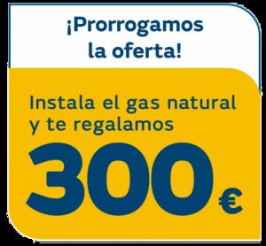 Contratar gas natural - Prorrogamos oferta